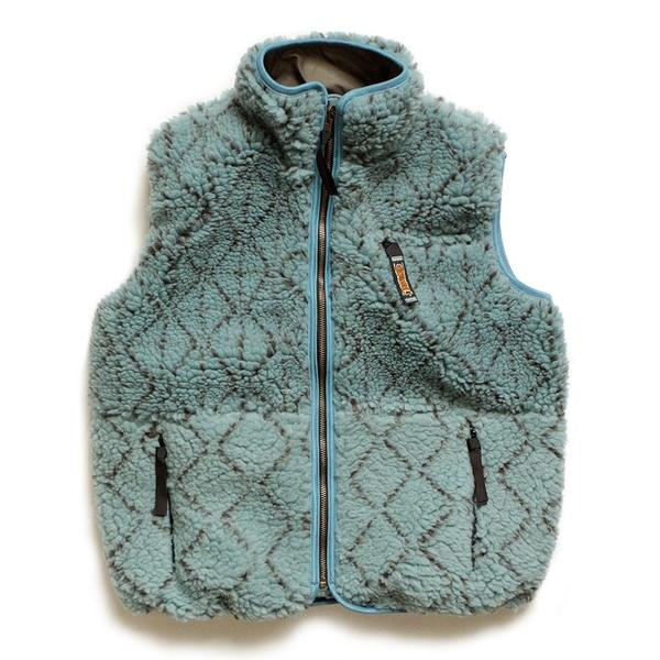 Do-Gi Sashiko BOA Fleece Reversible Vest 'Blue'