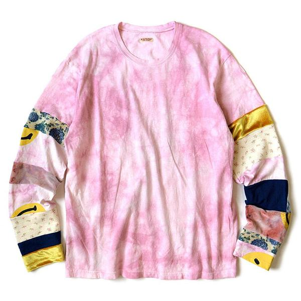 18.5 / -Tenjiku Uneven Dip Dye Hippie Ron Tee (smiles Nomad Patch) 'Pink'