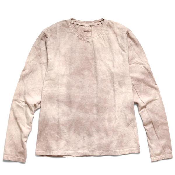 18.5 / Tenjiku Uneven Dip Dye Crulon L/S Tee 'Beige / Pink'