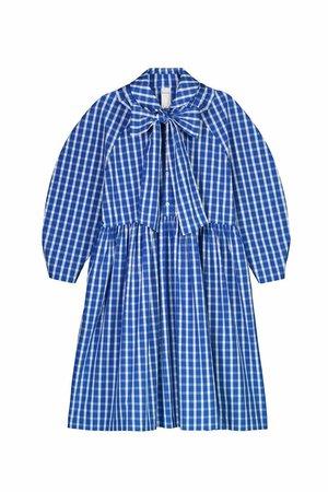 Kowtow Calder Dress - Blue/White Check