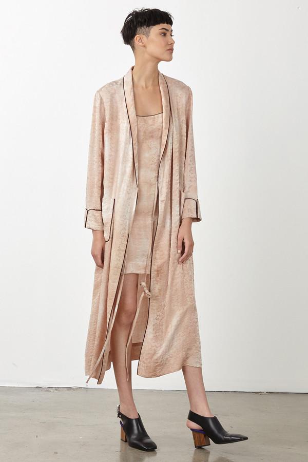 Raquel Allegra Desert Silk Damask Robe Dress Garmentory