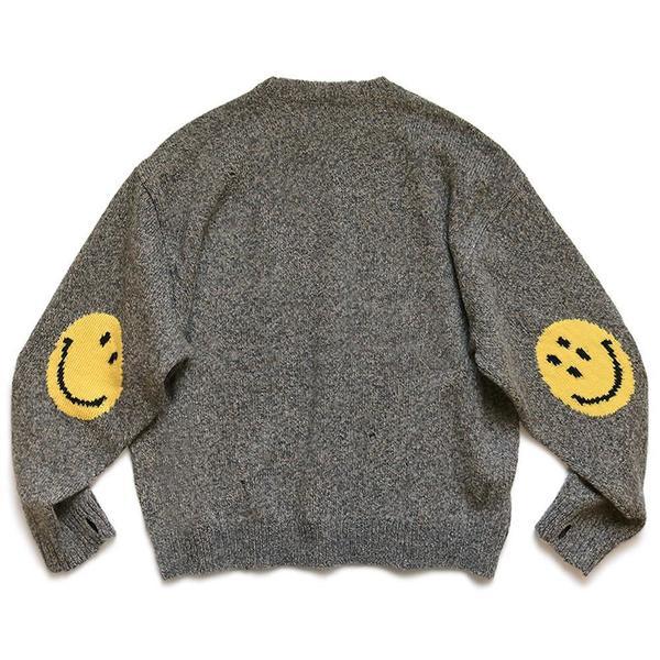 7G Wool Smilie Crew Sweater 'Gray'