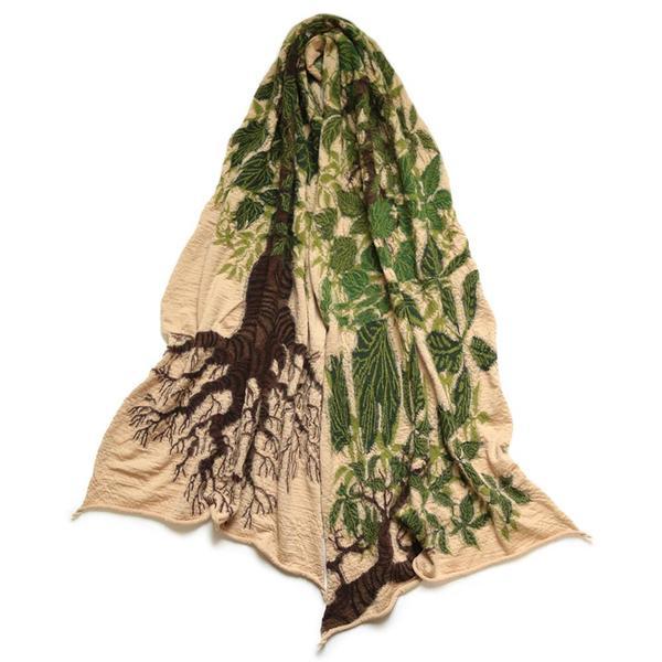 Compressed Wool Scarf BAOBAB 'Beige'