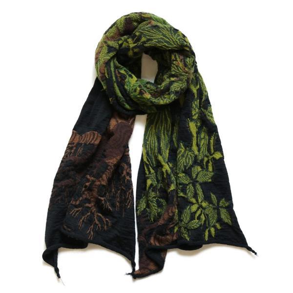 Compressed Wool Scarf BAOBAB 'Black'