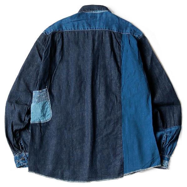 Cotton x Linen IDG patch Kathmandu Shirt 'Indigo'