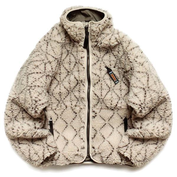 Do-Gi Sashiko BOA Fleece Reversible Blouson 'Ecru'