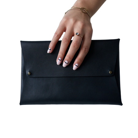 AW by Andrea Wong ENVELOPE CLUTCH - BLACK
