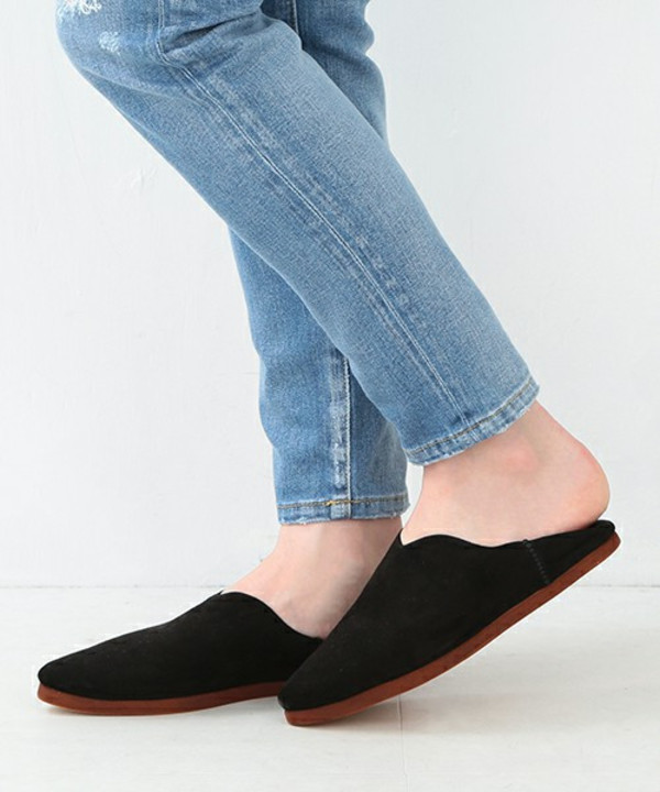 Carrie Forbes Suede Babouches Slipper - Black