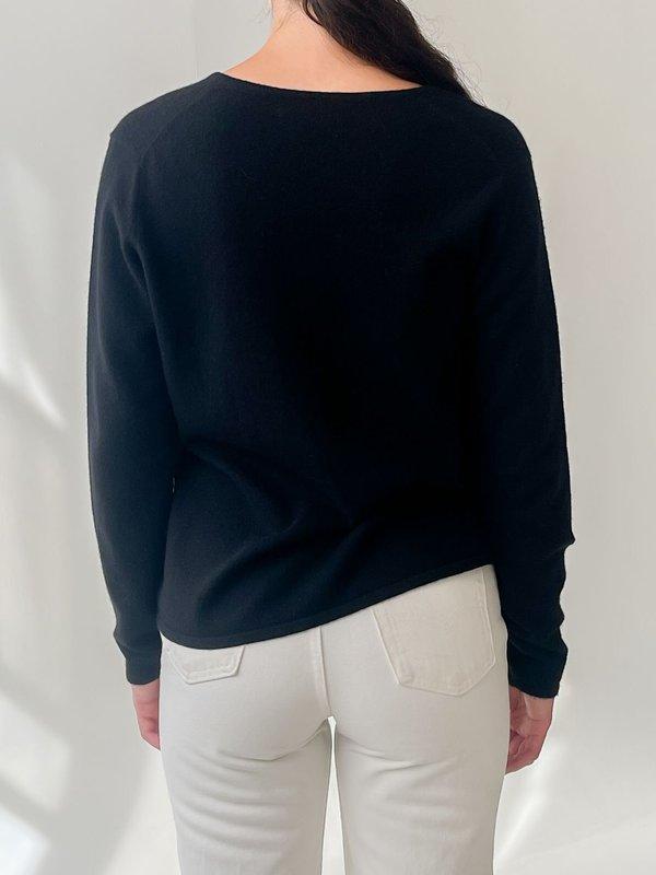 Black Cashmere Sweater (M)