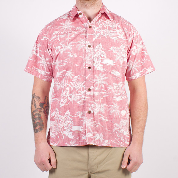 2e4d6d27 Two Palms Hawaiian Shirt Reverse Love Shack Red | Garmentory