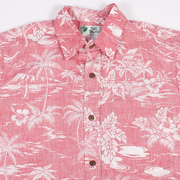 7e114301 Two Palms Hawaiian Shirt Reverse Love Shack Red. sold out. Two Palms