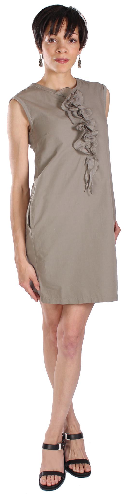 European Culture Sleeveless Ruffle Dress
