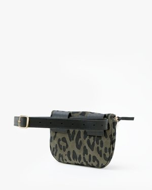 Clare V. Fanny Pack - Army Pablo Cat Suede Army