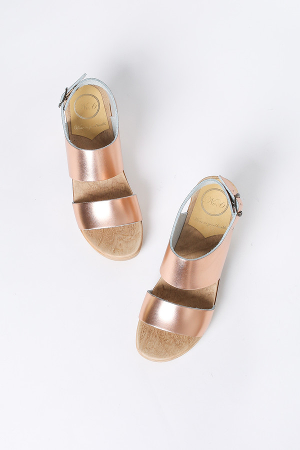 No 6 Harper High Heel Clog In Rose Gold Garmentory