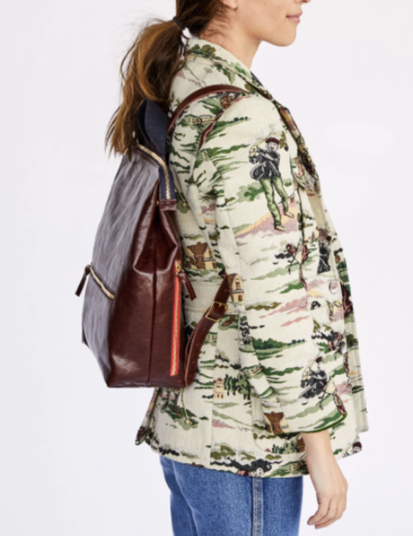 Clare V. Remi Backpack - Walnut