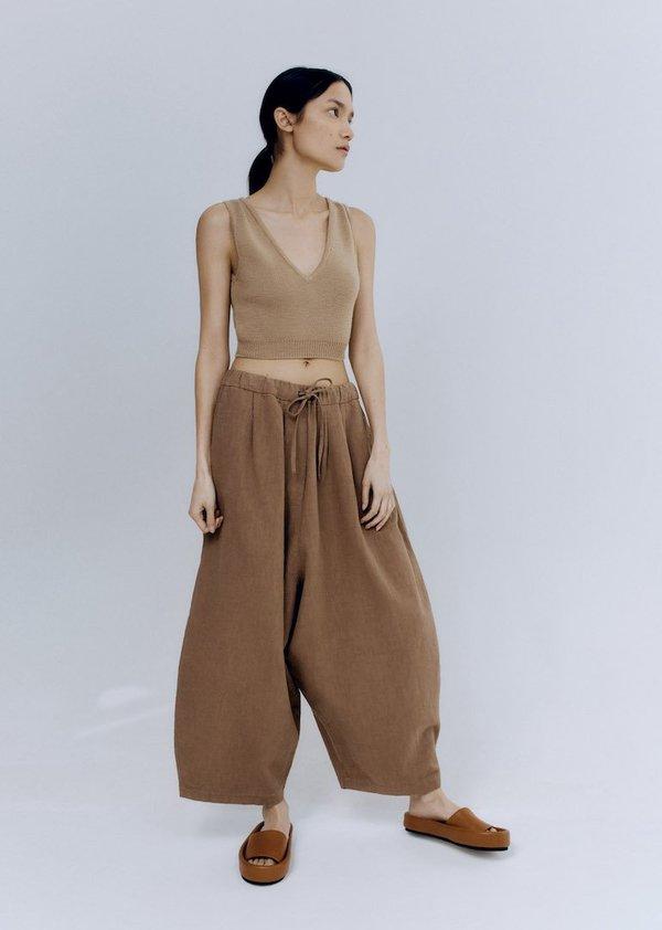 Cordera - Ramie Maxi Pants in Caramel