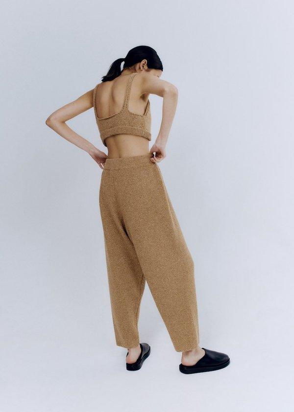 Monica Cordera Soft Wool Pants - Camel
