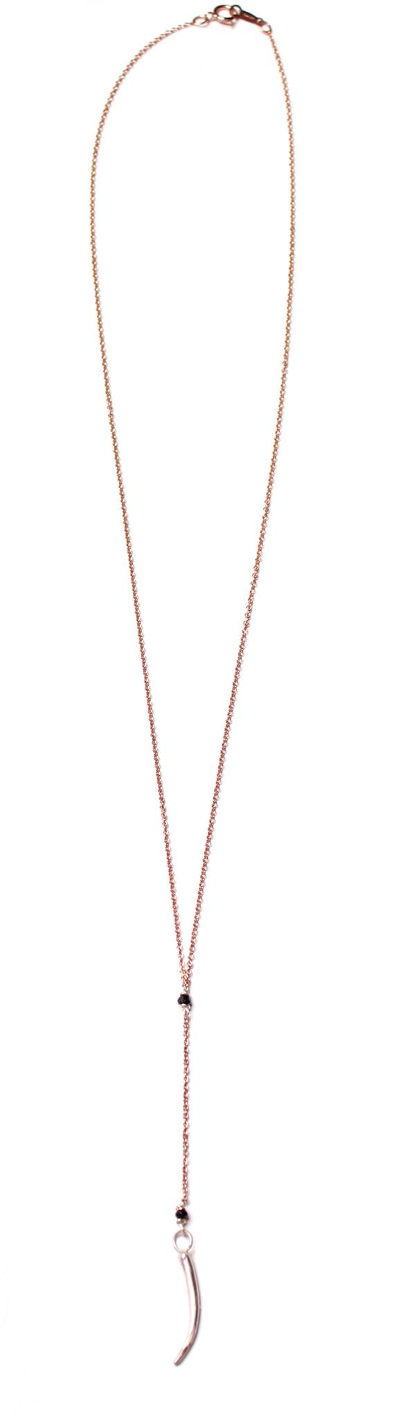 Sarah Dunn Tusk Lariat Rose Gold Necklace