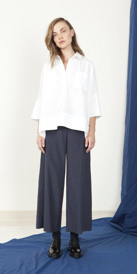 SCHAI A-Line Crop Pant - Ink/White