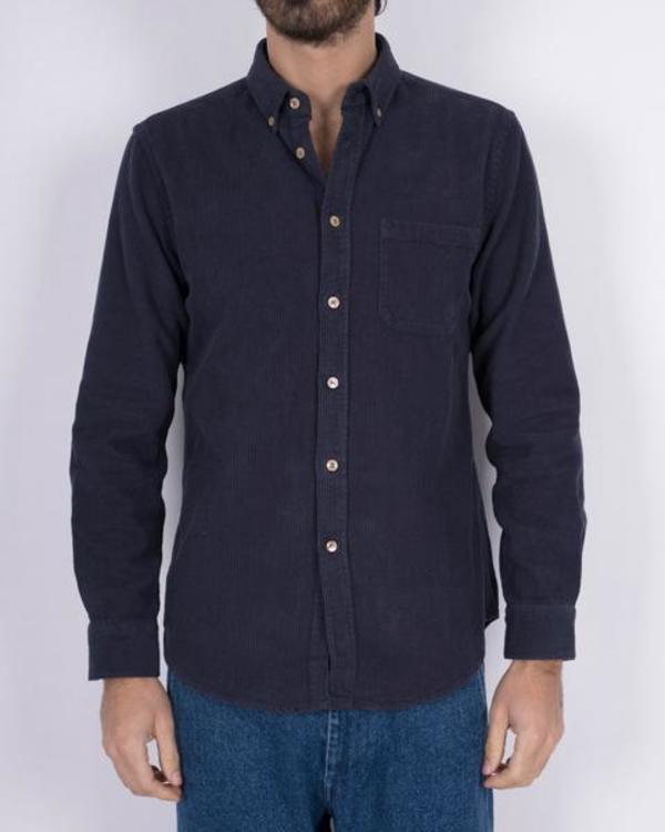 PORTUGUESE FLANNEL Lobo Corduroy Shirt - Navy