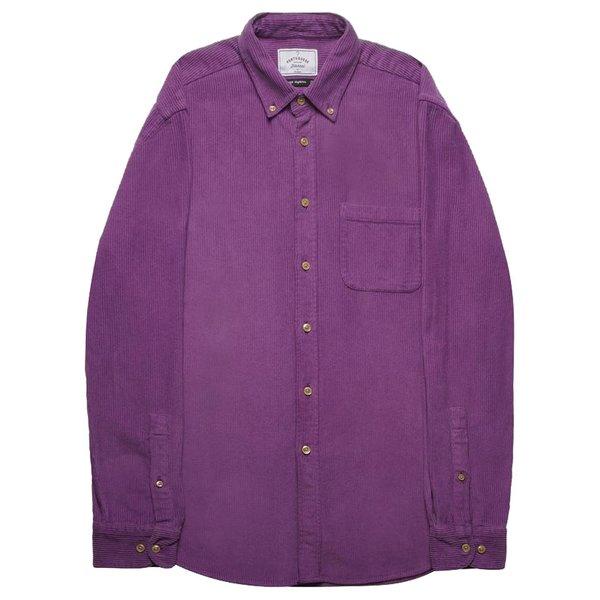 PORTUGUESE FLANNEL Lobo Corduroy Shirt - Purple