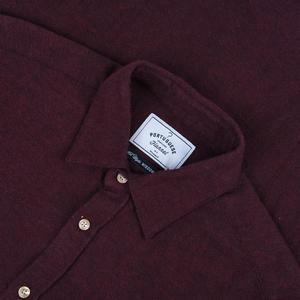 PORTUGUESE FLANNEL Teca Shirt - Bordeaux