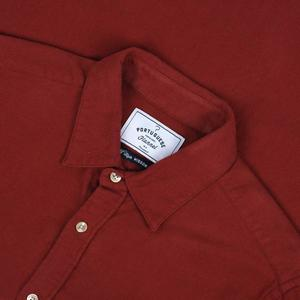 PORTUGUESE FLANNEL Teca Merlot Shirt - red
