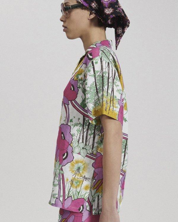 Rachel Comey ROSS TOP - Poppy linen