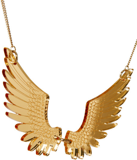 Tatty Devine Large Gold Pegasus Necklace