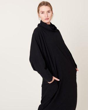 Black Crane Tube Dress - Black