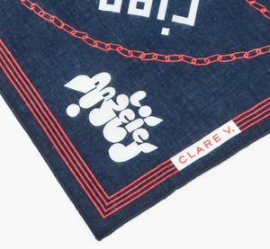 unisex CLARE V. Icon Print Bandana scarf