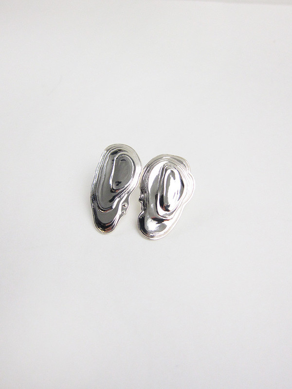 Leigh Miller Jewelry Ostra Silver Earrings Yow6zQ0md
