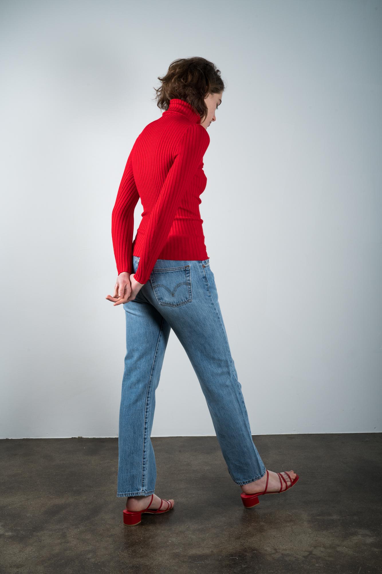 Maryam Nassir Zadeh Martina Slide Red Garmentory