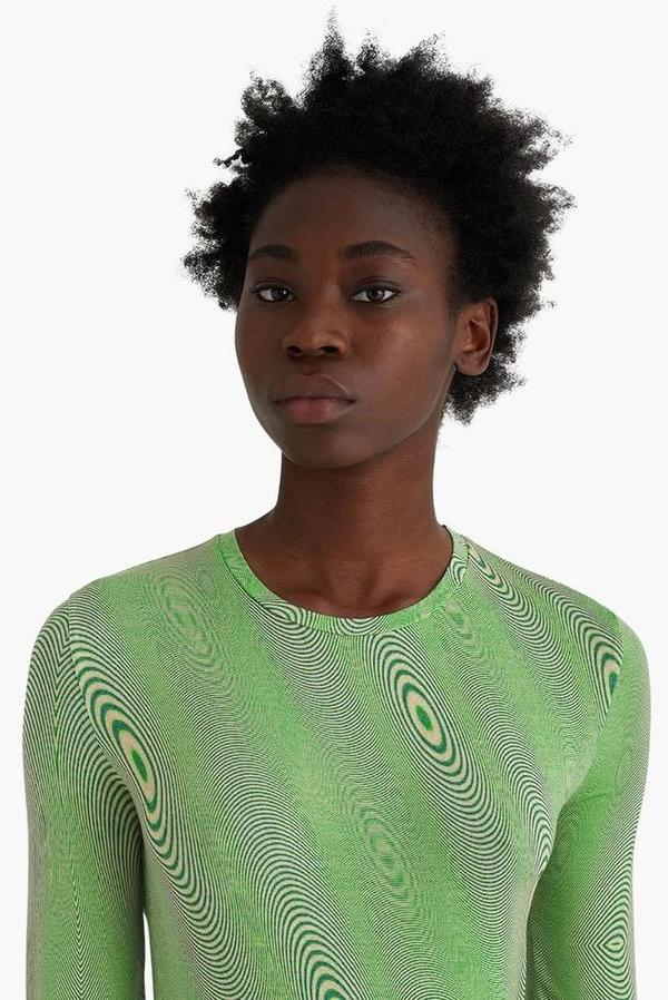 Paloma Wool Ondas Fractal Wave T Shirt - Green