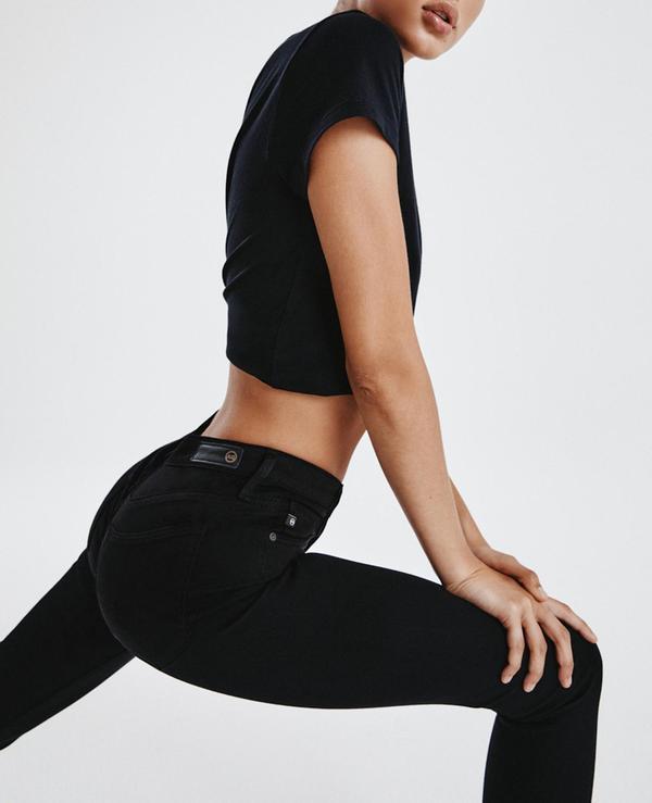 AG Jeans The Farrah Ankle Seamless denim - black