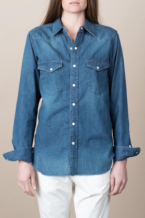 12eec0e760 Chimala Unisex Nep Denim Western Shirt In Vintage Dark