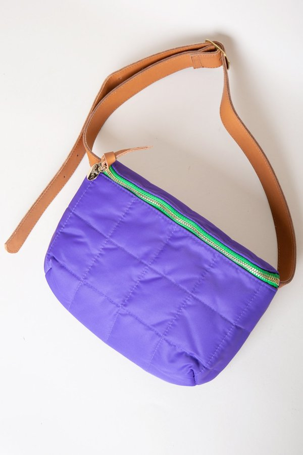 Clare V. Quilted Puffer Fanny Pack - Iris
