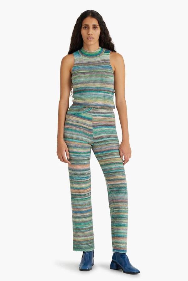 Paloma Wool Fabia Ribbed Knit Pants - Kiwi Green