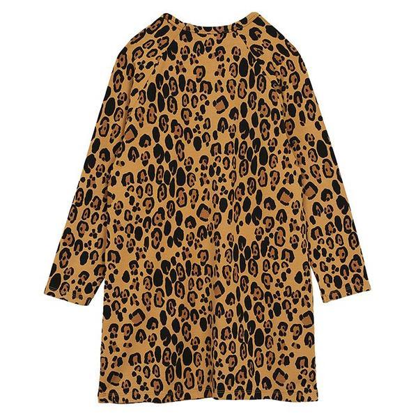 Kids Mini Rodini Child Basic Leopard Dress - Beige
