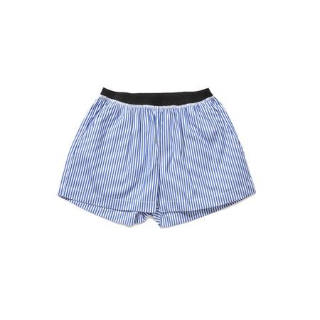 Kids Caramel Borage Boxer Short - Blue Stripe