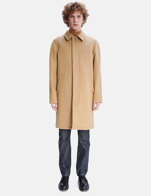 50s Men's Jackets | Greaser Jackets, Leather, Bomber, Gabardine A.P.C. Auster Mac Coat - Beige $553.00 AT vintagedancer.com