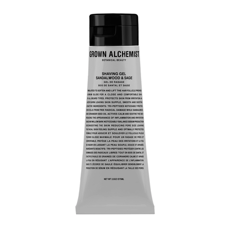 Grown Alchemist Shaving Gel - Sandalwood and Sage 75mL