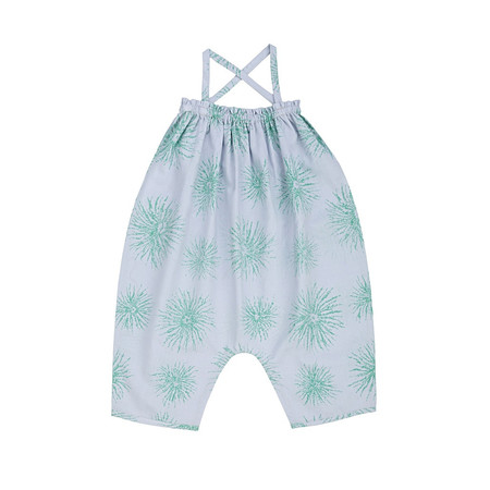 Kids Ketiketa Alma Baby Girl's Jumpsuit - Blue/Green Flower