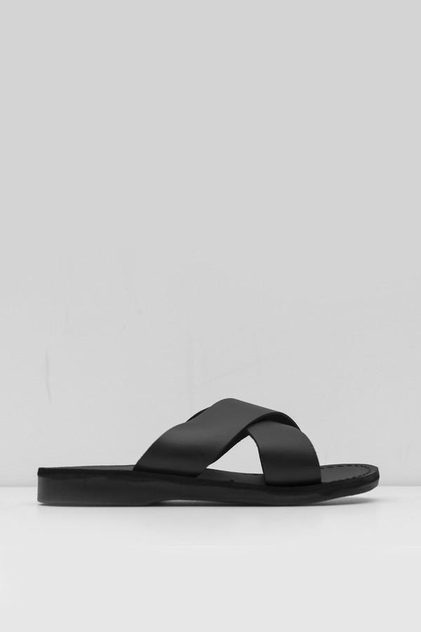 Jerusalem Sandals Leather Elan Sandal - Black