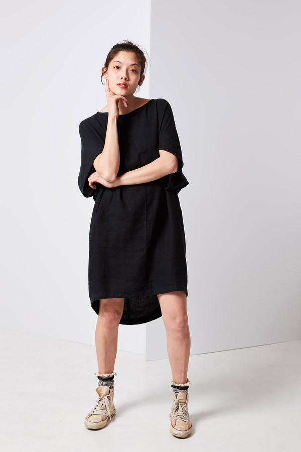 Black Crane Geometric Dress Black Garmentory