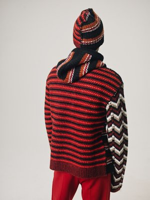 Marni Oversized Knit Two Sided Beanie