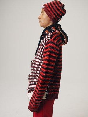 Marni Patchwork Wavy Zip Hooded Cardigan