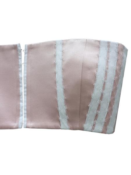 CF. Goldman Silk Bustier Top - Pink