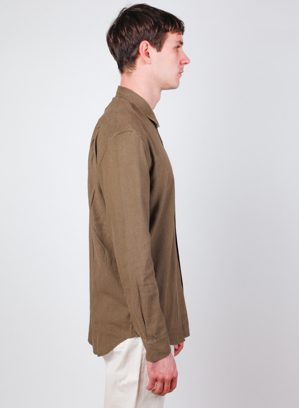 df6530cdabadbf Our Legacy Classic Shirt Dk. Olive Silk Noil. sold out. Our Legacy