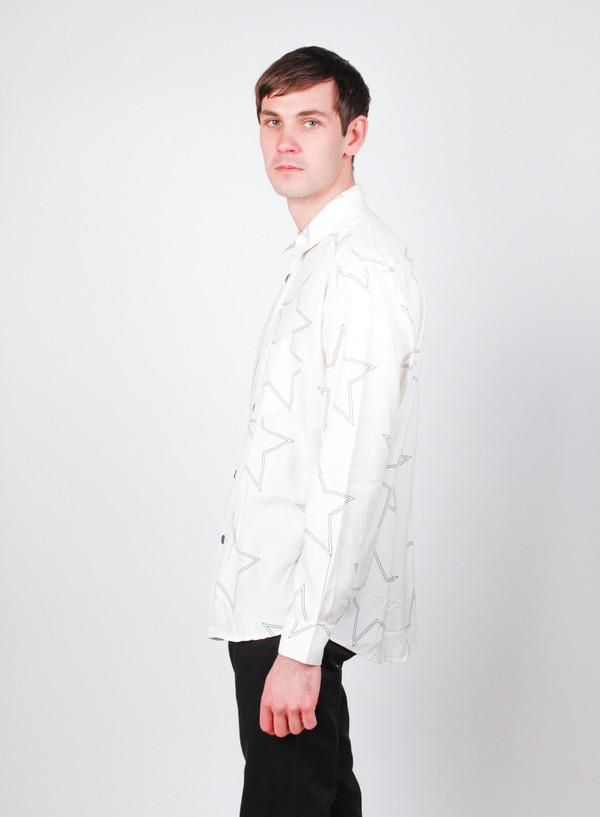 Our Legacy Initial Shirt White Silk Star